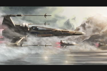 X-wing digital painting