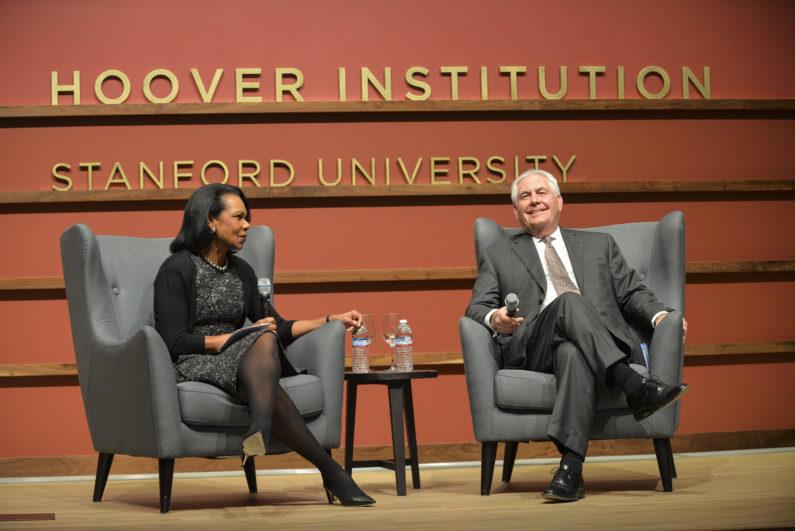 Condoleezza Rice and Rex Tillerson