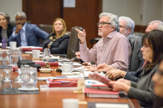 Jeff Raikes at a board meeting