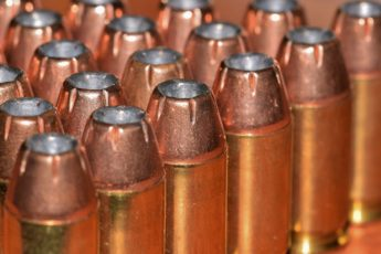 A close-up of bullets