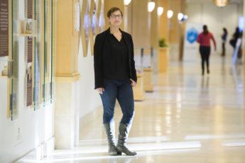 Risa Wechsler standing in a hallway