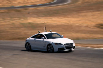 Autonomous car on racetrack