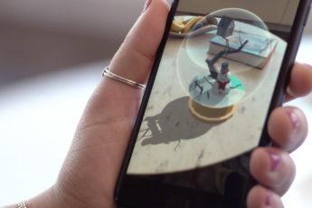 Snowbird on phone screen