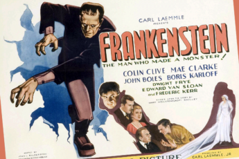 A poster for the 1931 film Frankenstein.