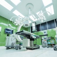 A surgical operating room.