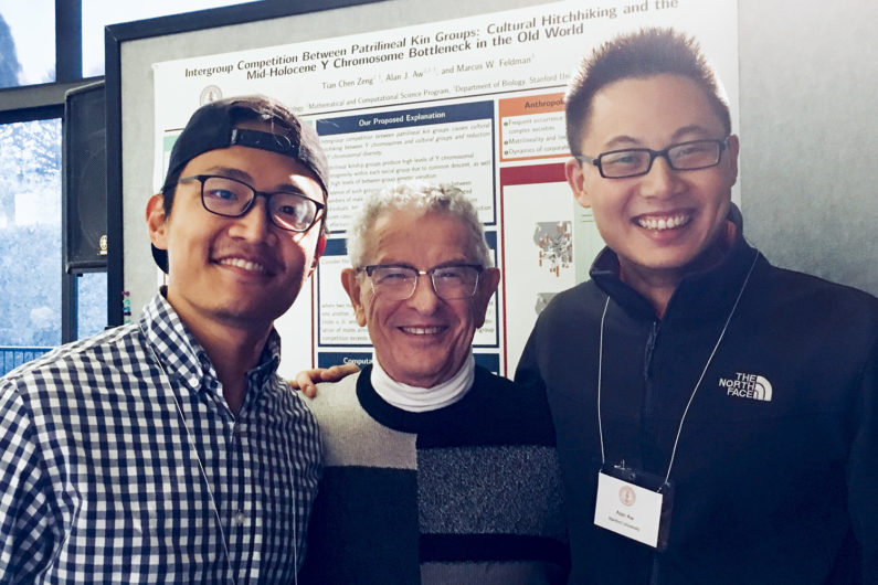 from left to right: Tian Chen Zeng, Marcus Feldman, Alan Aw