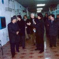 Siegfried Hecker meets with members of North Korea's nuclear scientific community during a visit to Yongbyon.