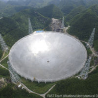 overhead view of China's 500-meter Aperture Spherical Telescope