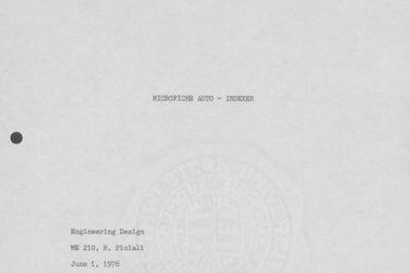 Cover page microfiche project