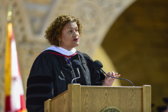 Baccalaureate speaker Elizabeth Alexander gives the address. 127th Commencement Baccalaureate.
