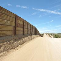 The southern USA-Mexican border, Campo, California, 2017.