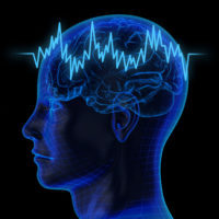 illustration representing brain waves