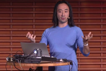 screen shot from Ge Wang's presentation at TEDxStanford