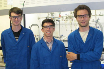 Stanford PhD candidates (from left) Geoff McConohy, Antonio Baclig and Andrey Poletayev