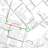 Seerra Street closure map