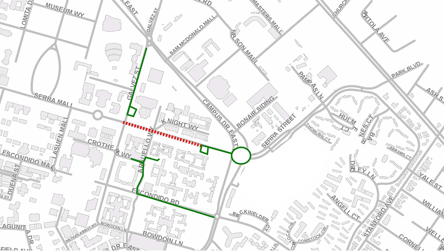 Additional Stretch Of Serra Street To Be Closed To Vehicular Traffic
