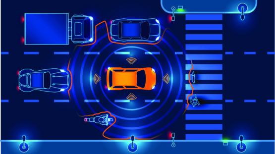 Illustration of autonomous vehicles