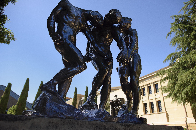 "Rodin's sculpture, ""The Three Shades"""