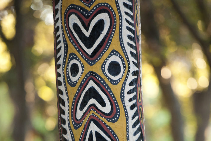 A detail from the Kwoma Spirit House Post)