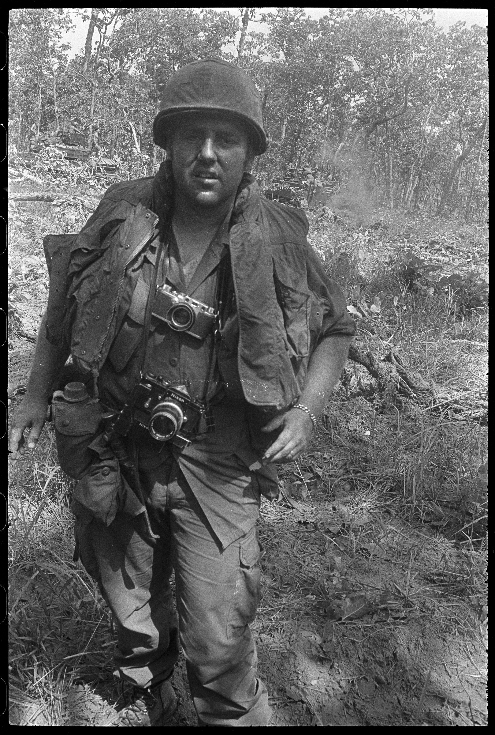 Overseas Weekly reporter and Pacific Bureau Chief (1972-73) Don Hirst. May 11, 1970, Cambodia