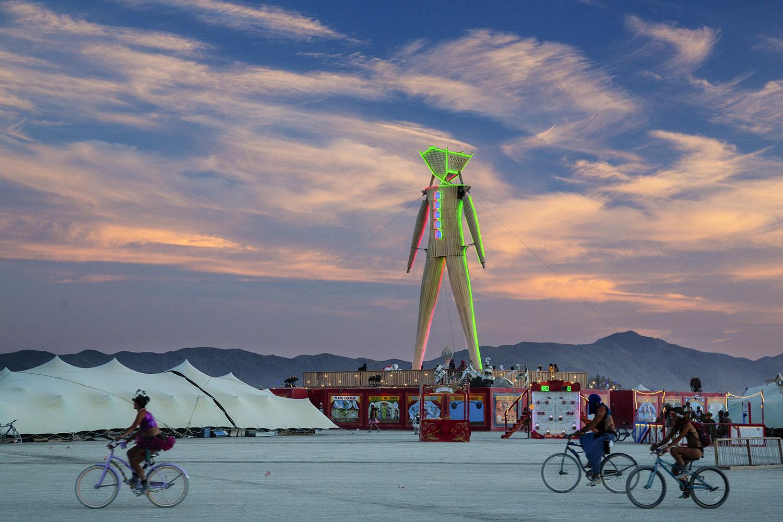 Burning Man statue