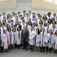 Photo of Lloyd Minor (center) and MD class