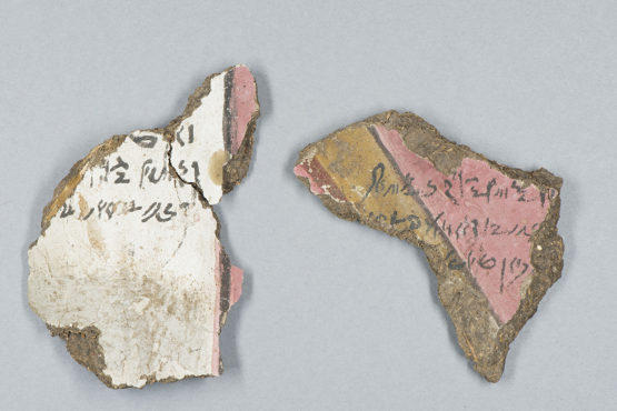 Two fragments with ancient Egyptian writing