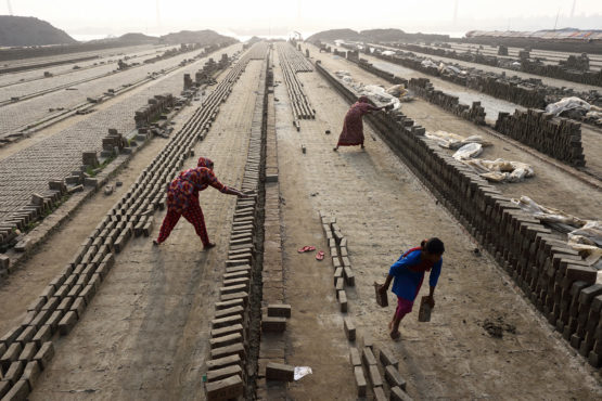 Brick workers in India