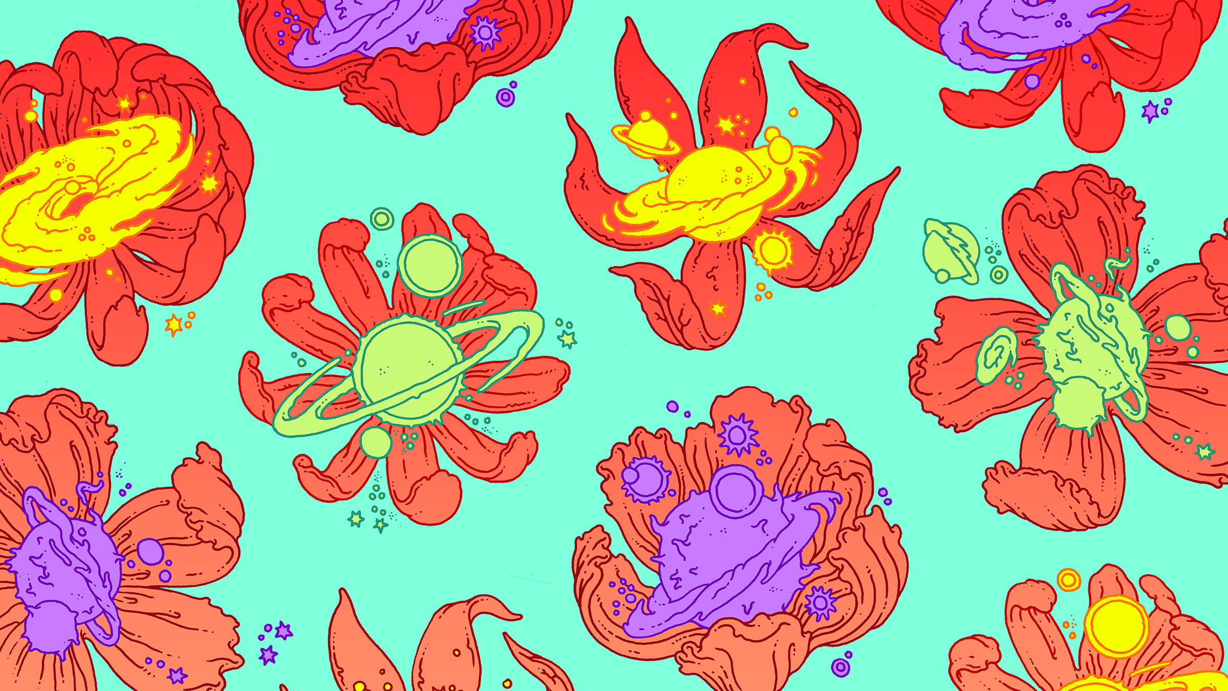Creation of multiverse illustration