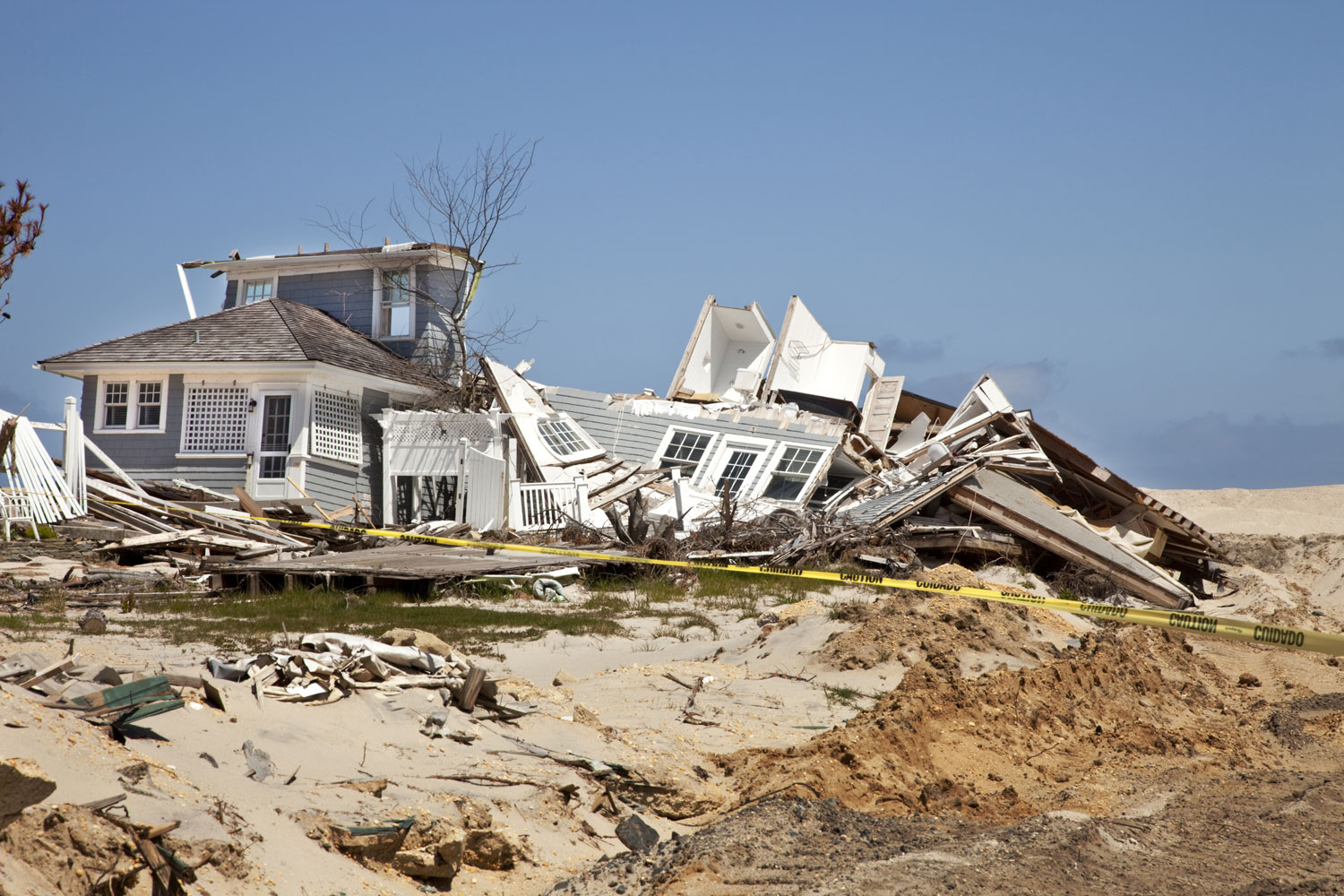 This beach house in Mantoloking, N.J., was destroyed when Hurricane Sandy swept over the region in 2012.
