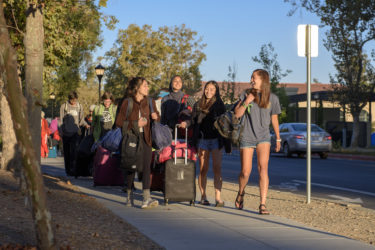 Students return from the Stanford Pre-Orientation Trip on the morning of Move-In Day.