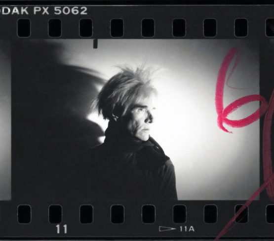 Detail from Warhol contact sheet