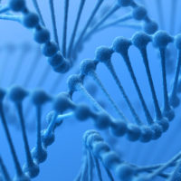 Genetics background. 3D render.