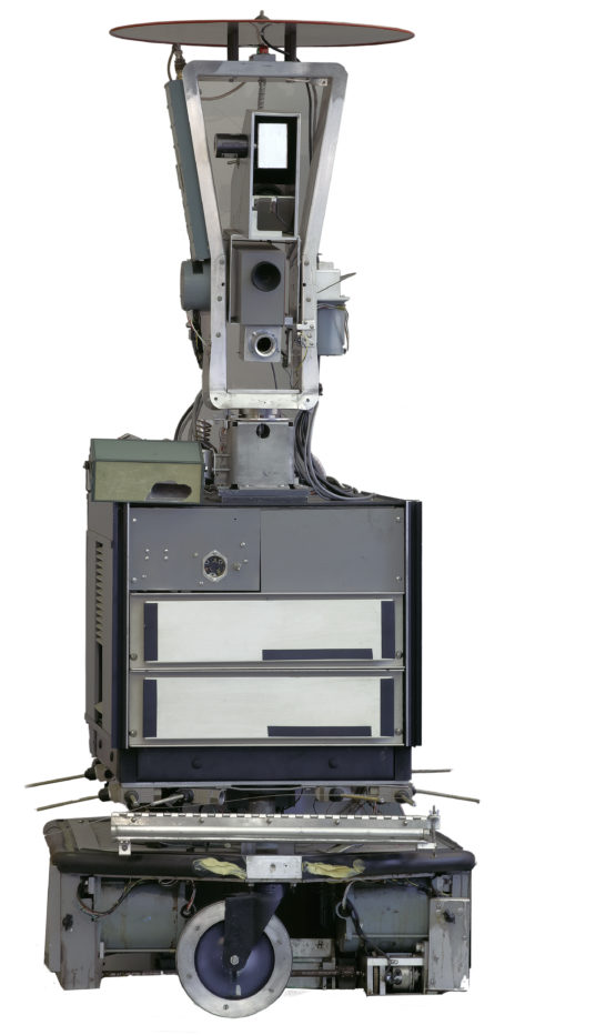 Front view of Shakey the robot