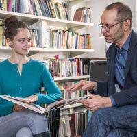 Student Michal Leibowitz with Professor Amir Eshel