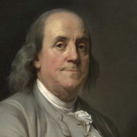 Benjamin Franklin, oil on canvas portrait by Joseph Siffred Duplessis, c. 1785