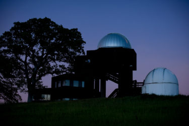 The Student Observatory at dusk.