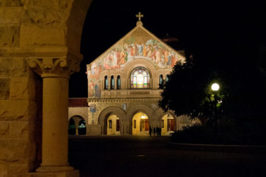 Memorial Church at night