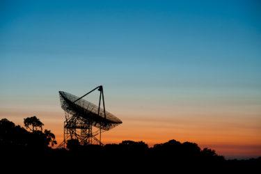 The Dish at dusk