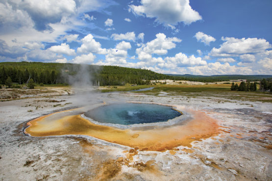 Emerald Hot Spring in Yellowstone National Park
