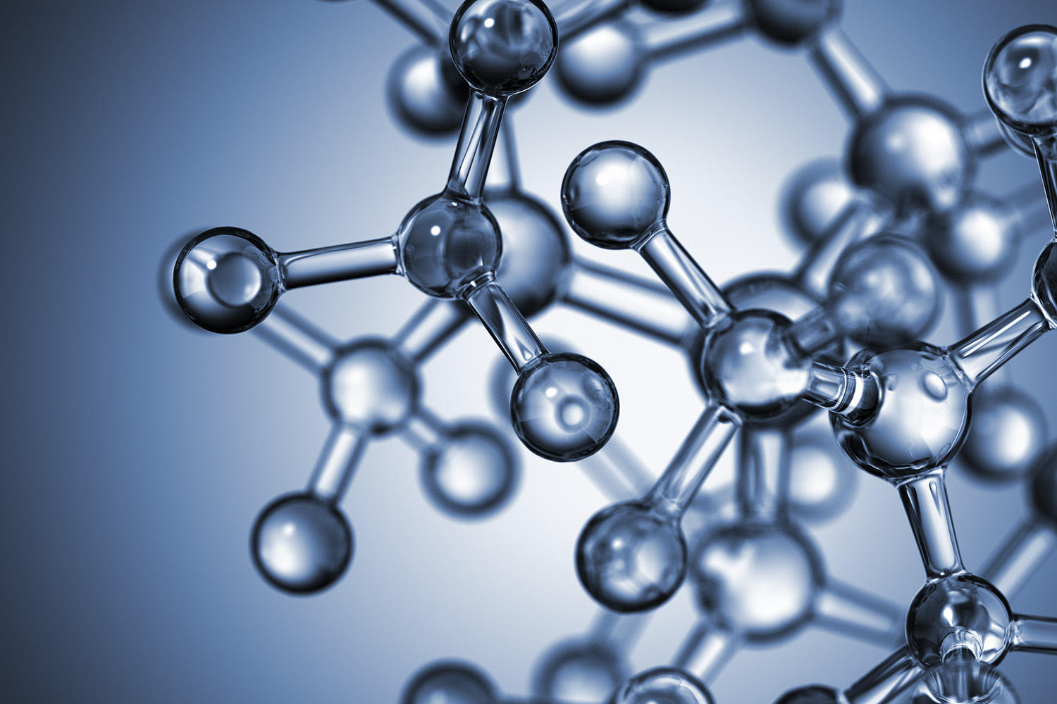 3D rendering of molecules