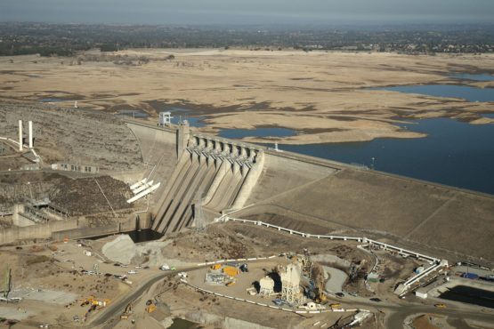 Folsom Lake during drought