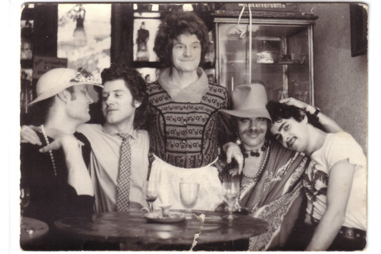 Members of East Germany's gay activist community