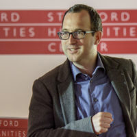 Prof. Dan Edelstein talks about the French Revolution during a class at the Stanford Humanities Center.