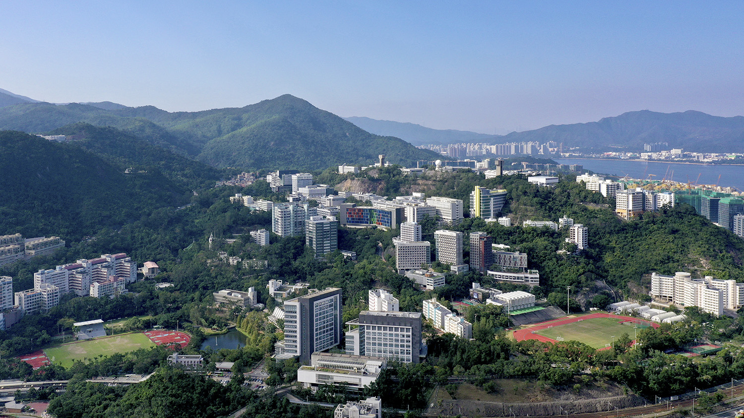 aerial view of Chinese University of Hong Kong