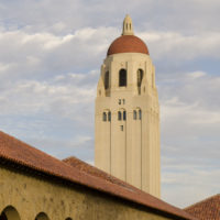 a view of Hoover Tower