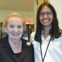 Kendra Mysore with Madeleine Albright.