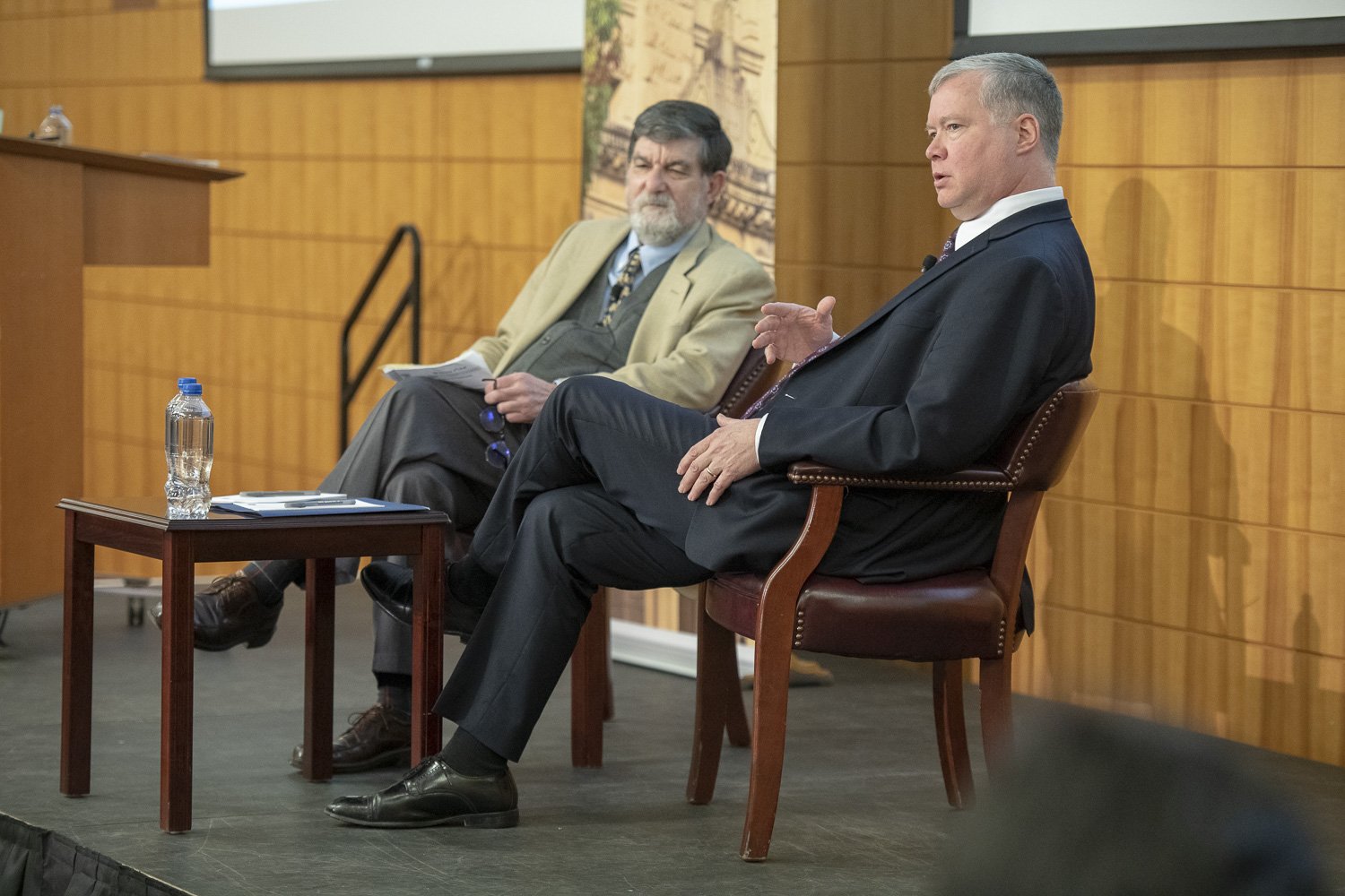 Robert Carling and Stephen Biegun in conversation at Jan. 31, 2019 event