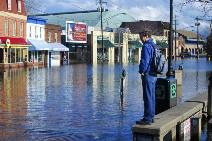 Flooded downtown Annapolis MD)