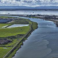 San Joaquin Sacramento Bay Delta, looking west out of Sacramento